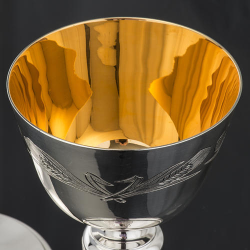 Ciborium Molina in silvered brass, Ears of wet and Grapes 7