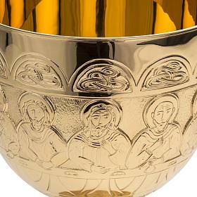 Cálice Molina latão dourado Última Ceia s3