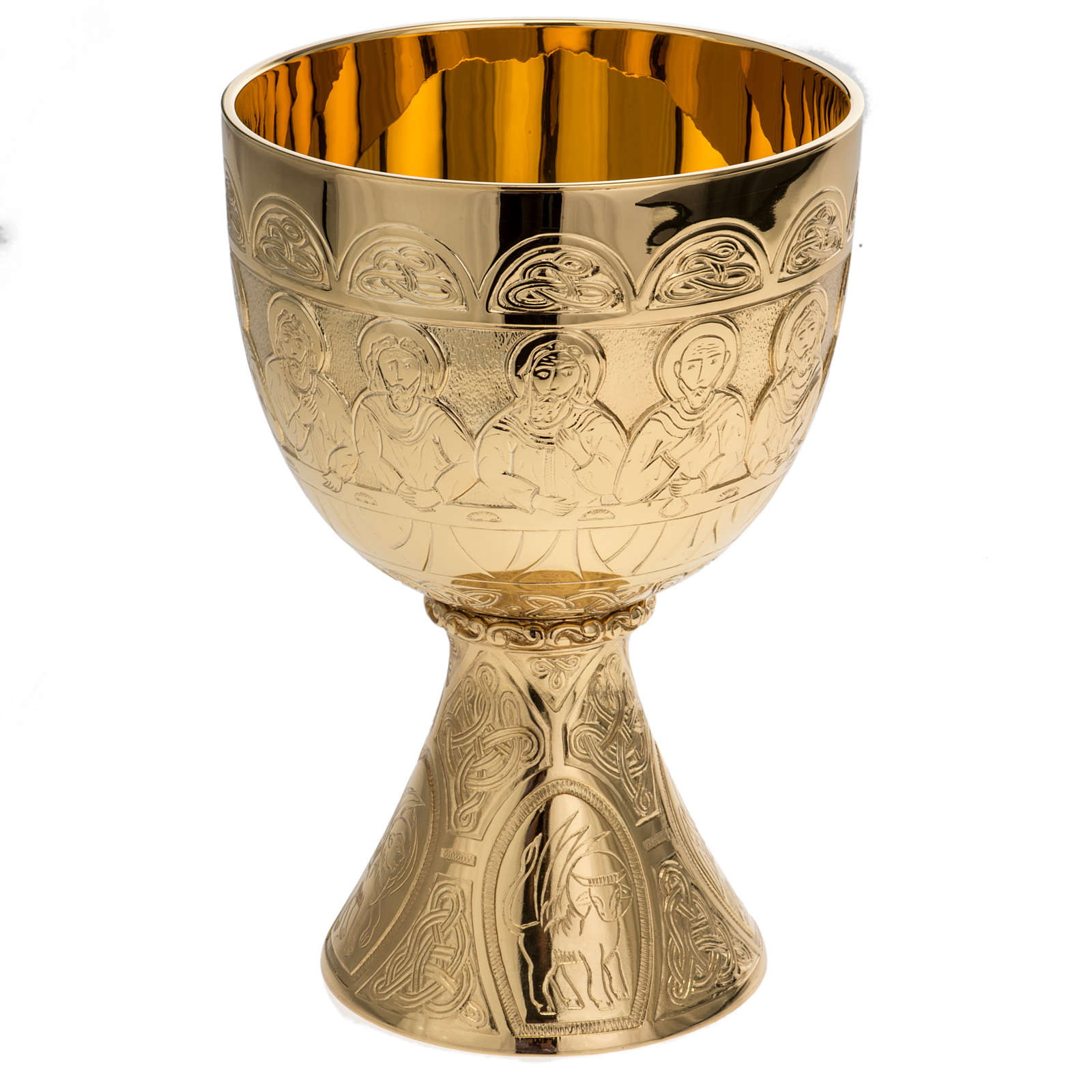 Chalice Molina in golden brass, The Last Supper 4