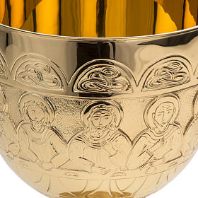 Chalice Molina in golden brass, The Last Supper s3