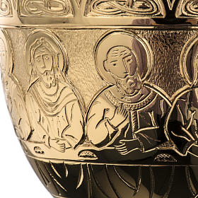 Chalice Molina in golden brass, The Last Supper s7