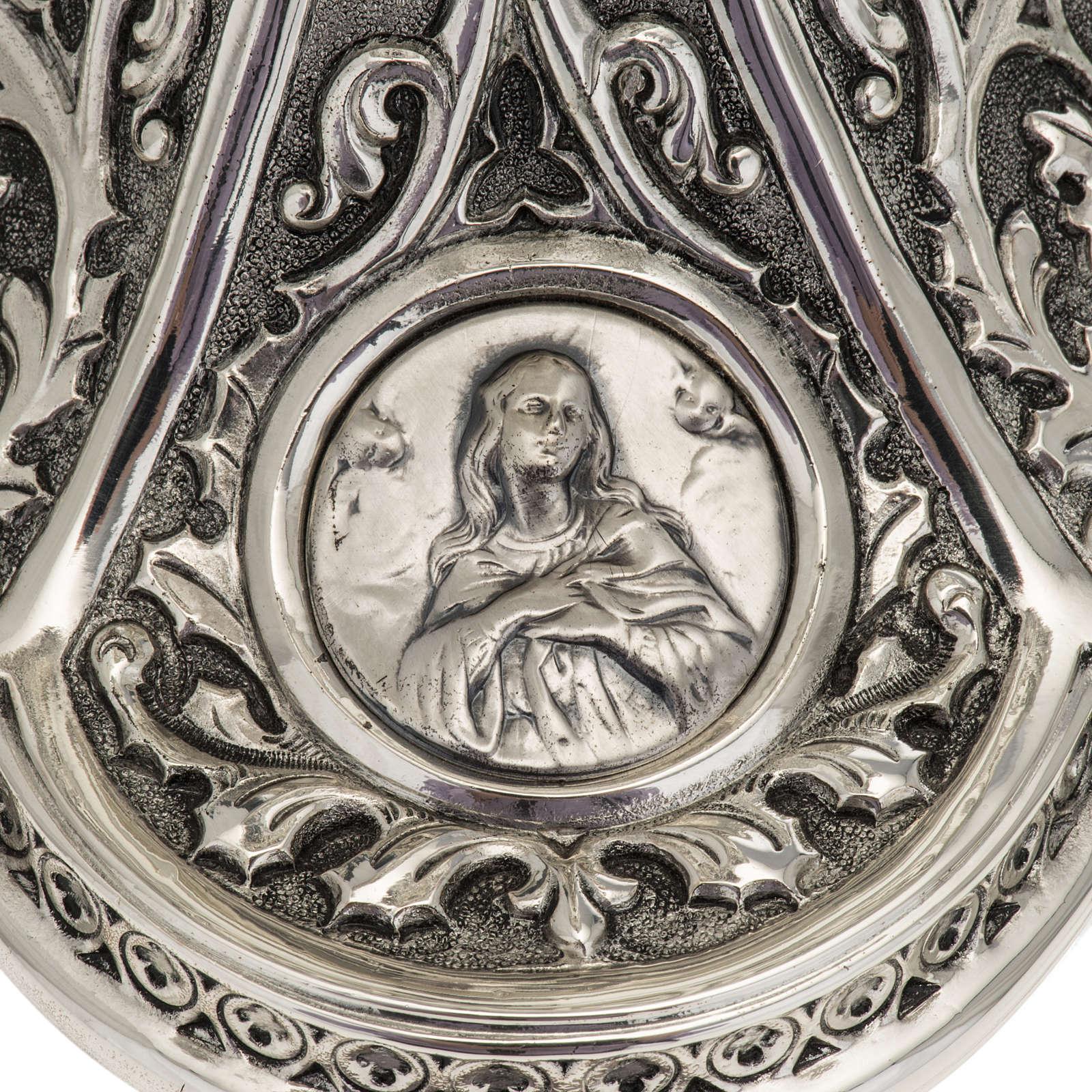 Ciboire Molina laiton argenté Marie Jésus Joseph 4