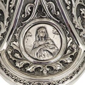 Pisside Molina ottone argentato Maria Gesù Giuseppe s5