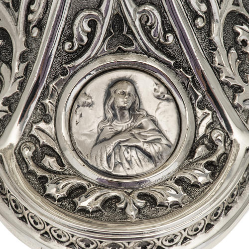 Pisside Molina ottone argentato Maria Gesù Giuseppe 5