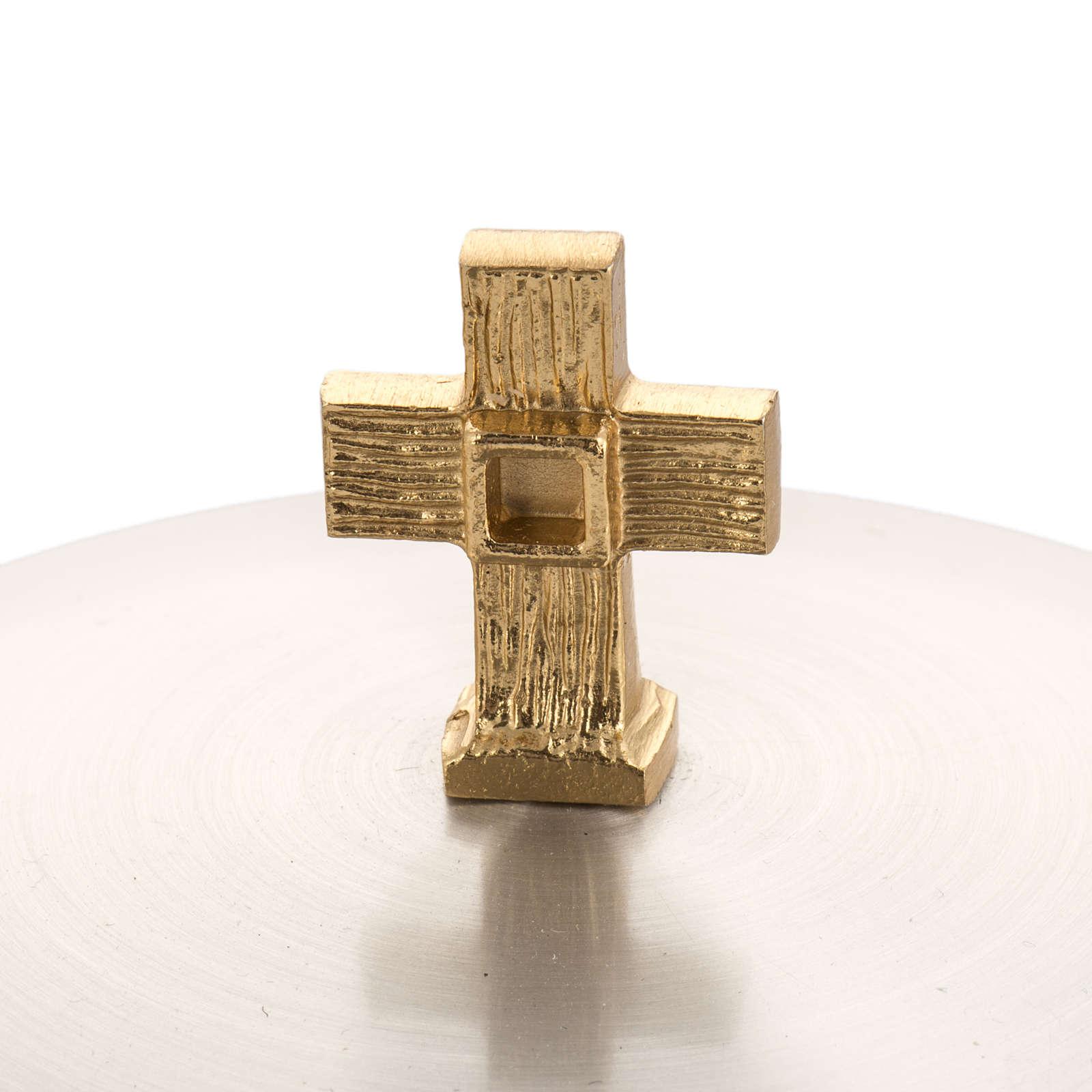 Calice Pisside ottone liscio, coppa calice bagno oro 24K 4
