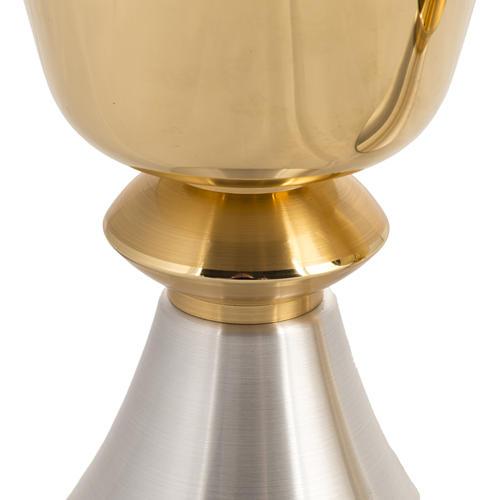 Calice Pisside ottone liscio, coppa calice bagno oro 24K 2