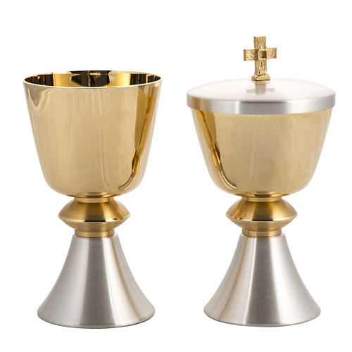 Chalice and ciborium, with 24K gold plating, polished brass 4