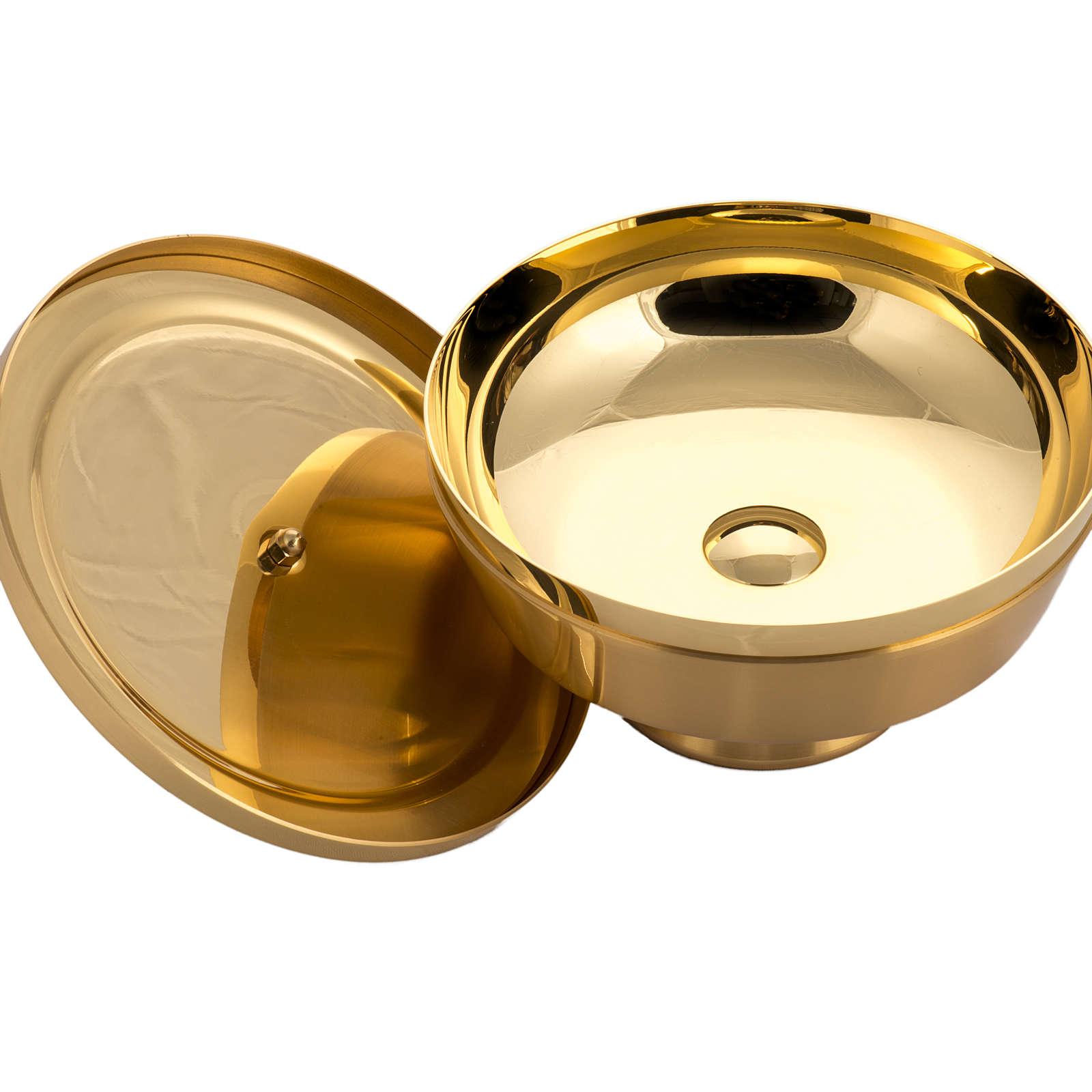 Pisside bassa satinata ottone dorato 4