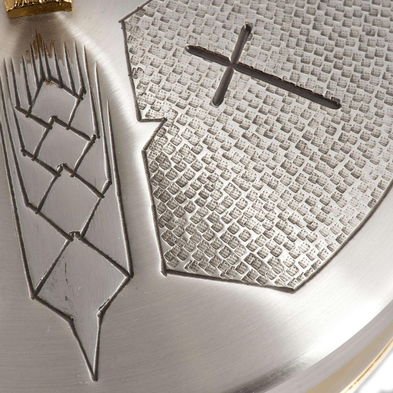 Calice Pisside Patena e Patena offertoriale ottone cesellato arg 4