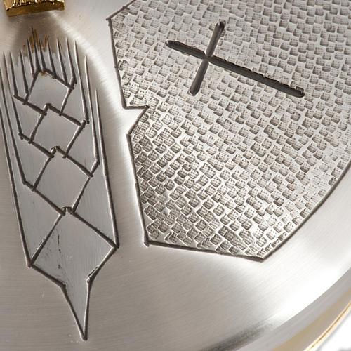 Calice Pisside Patena e Patena offertoriale ottone cesellato arg 8