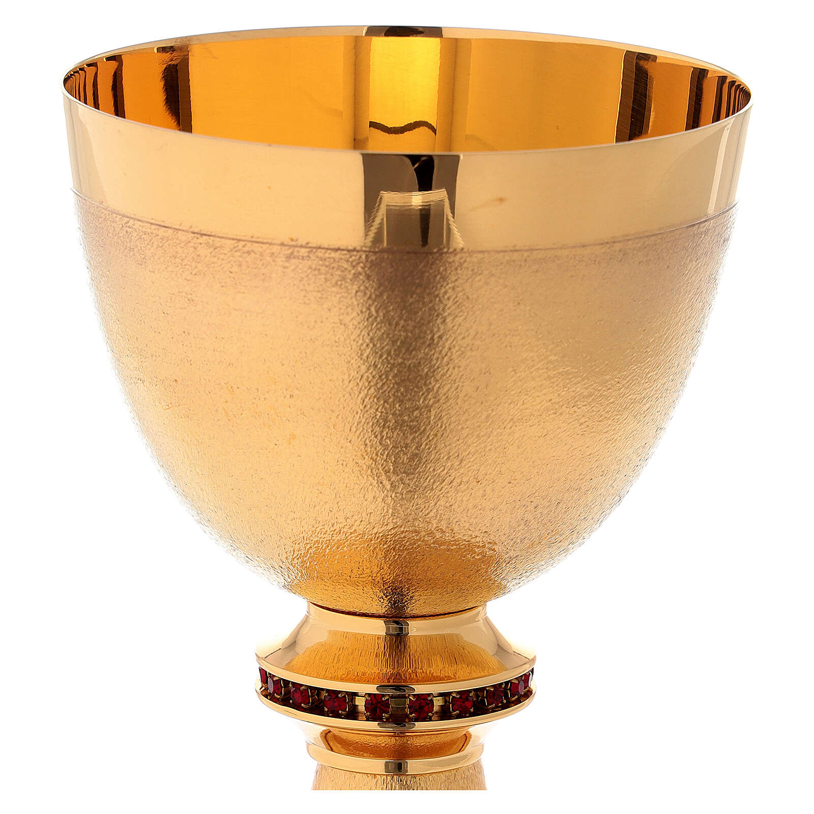 Chalice in gold-plated knurled brass 4