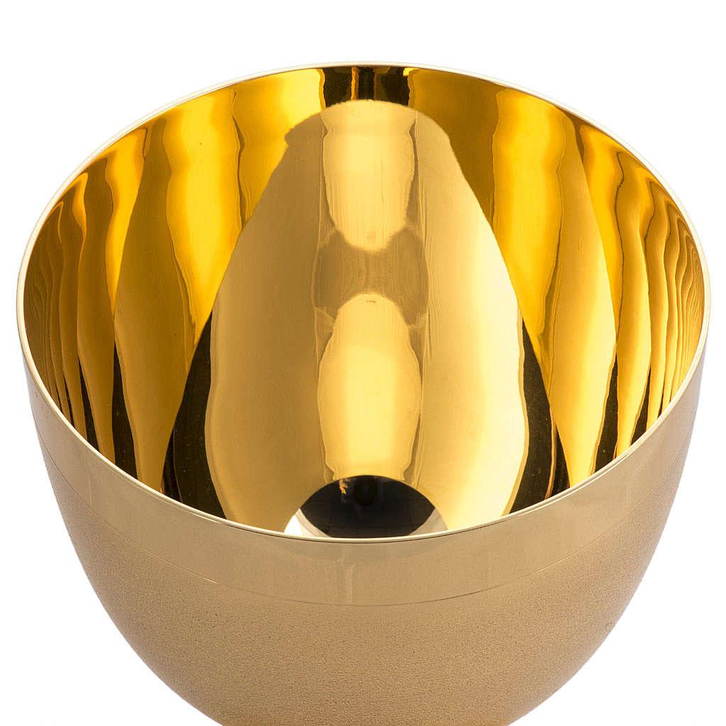 Calice laiton doré cannelé 4