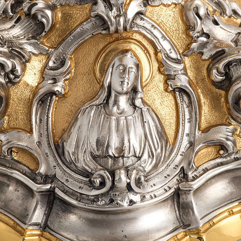 Calice barocco in bronzo Gesù Giuseppe Maria 4