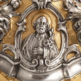 Calice barocco in bronzo Gesù Giuseppe Maria s4