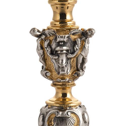 Calice barocco in bronzo Gesù Giuseppe Maria 5