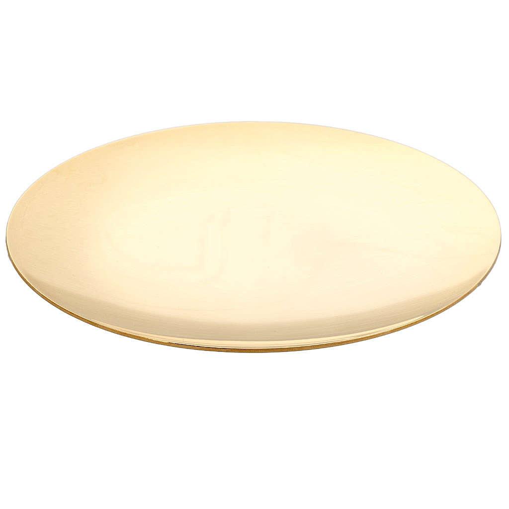 Patène classique lisse en laiton 4
