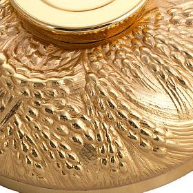 Calice pisside patena spighe ottone e bronzo fuso s9