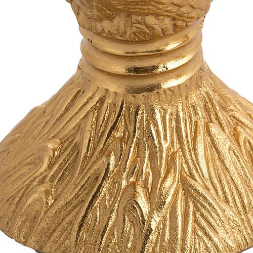 Calice pisside patena spighe ottone e bronzo fuso 3