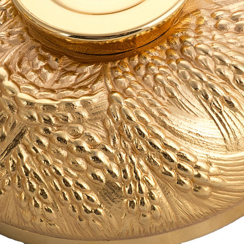Calice pisside patena spighe ottone e bronzo fuso 9