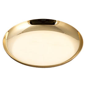 Metal Chalices Patens Ciboria: Paten in gpld-plated, knurled brass with silver ring
