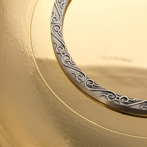 Paten in gpld-plated, knurled brass with silver ring 3