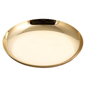 Patena ottone dorato zigrinato anello argentato s1