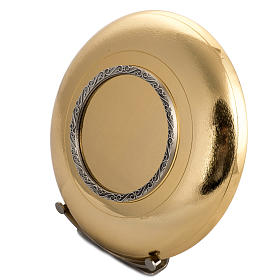 Patena ottone dorato zigrinato anello argentato s4