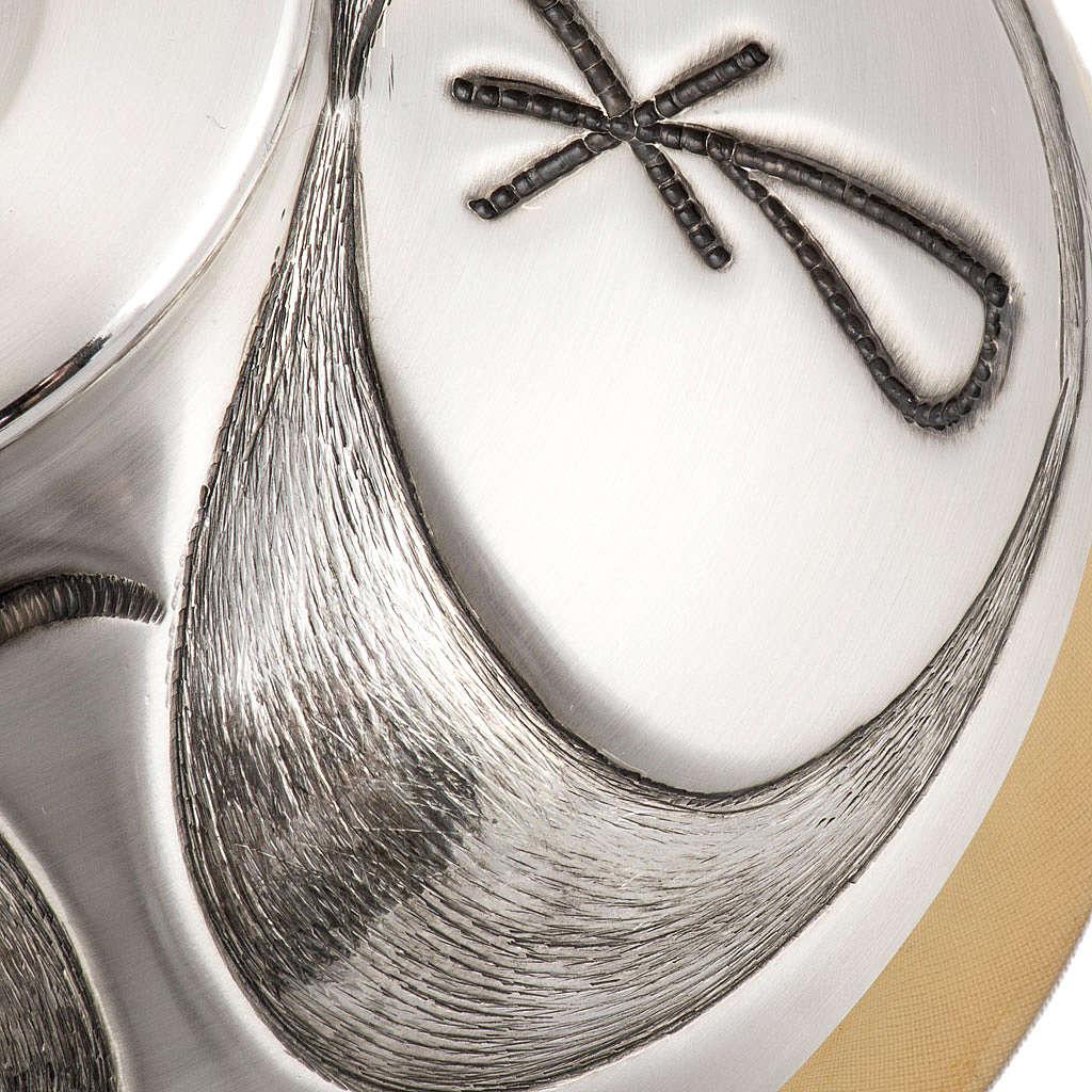 Calice Pisside Patena in bronzo cesellati e satinati IHS 4