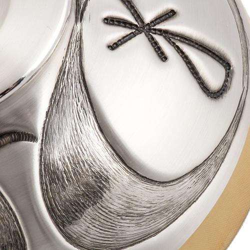 Calice Pisside Patena in bronzo cesellati e satinati IHS 8
