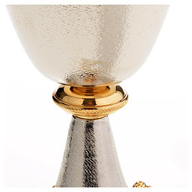 Chalice and Ciborium in silver brass with golden putti s16
