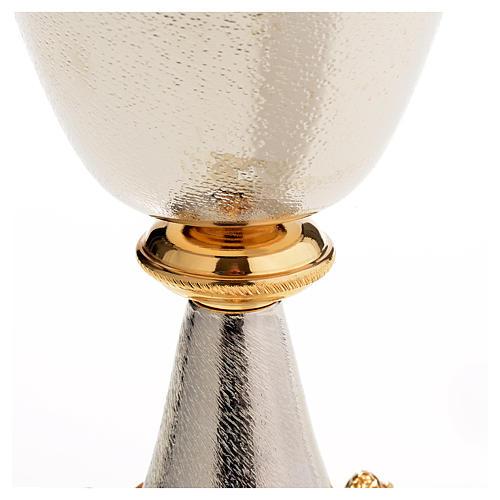 Chalice and Ciborium in silver brass with golden putti 8