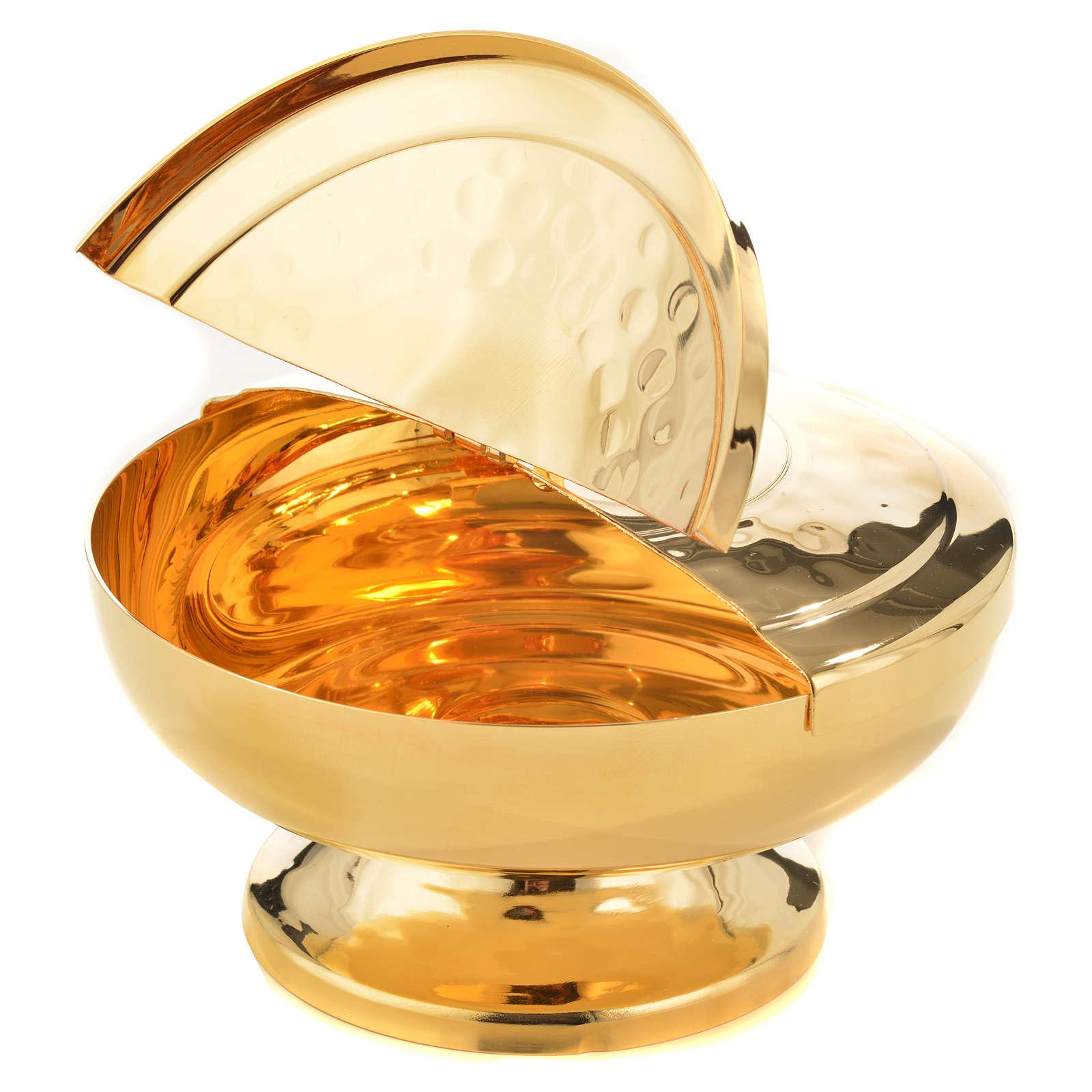 Pisside ottone dorato coperchio apribile 4
