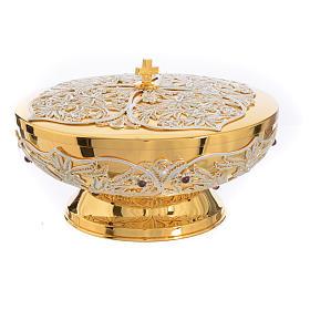 Chalice, Ciborium and Paten in brass with filigree s16