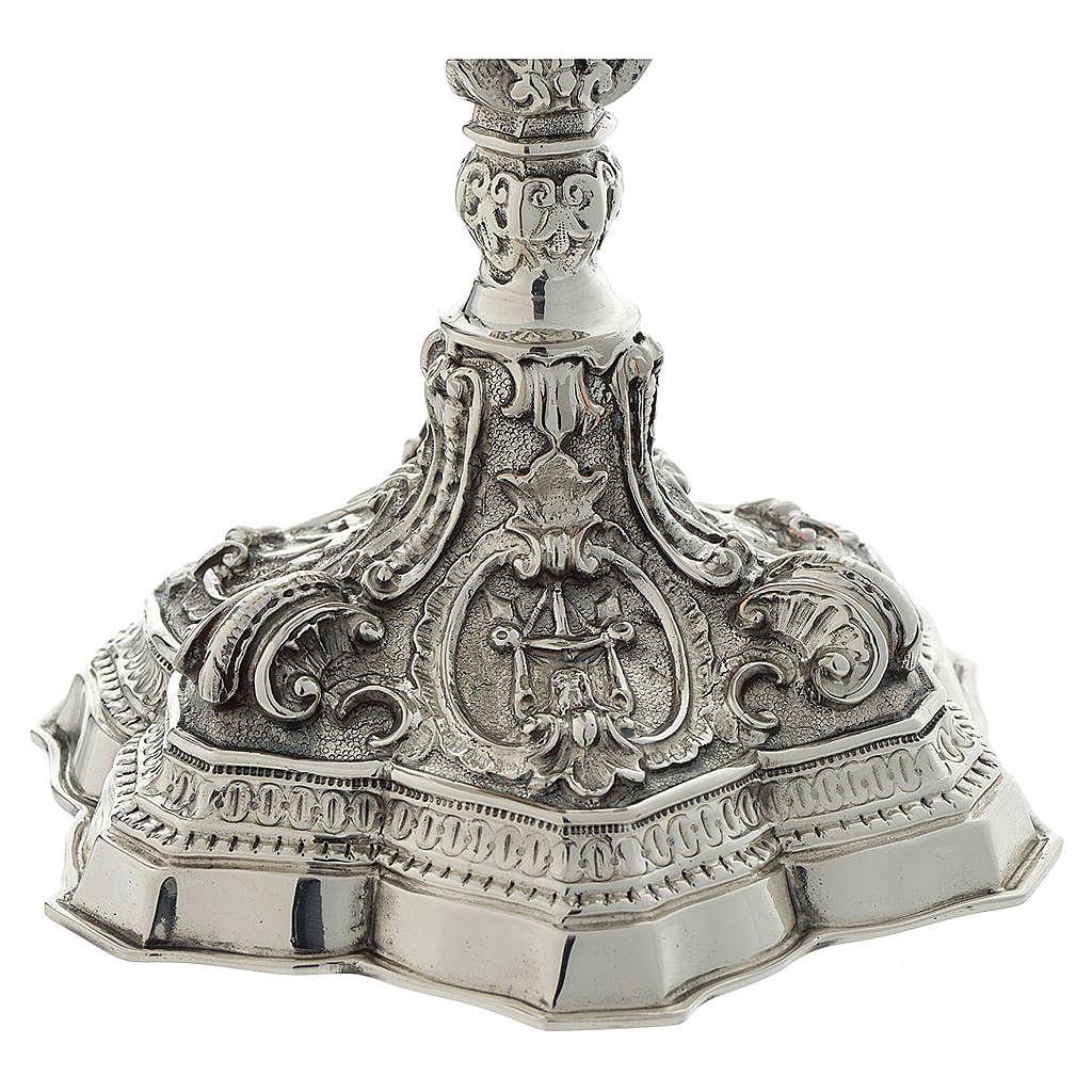 Calice ottone cesellato stile barocco 4