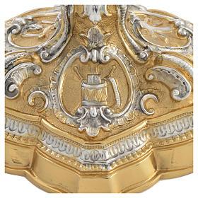 Calice ottone cesellato bicolore stile barocco s4