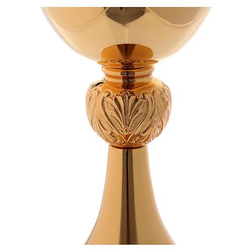 Calice ottone dorato coppa lucida e base satinata 3