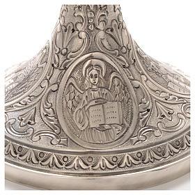Calice ottone cesellato Crocifissione e 4 Evangelisti s4