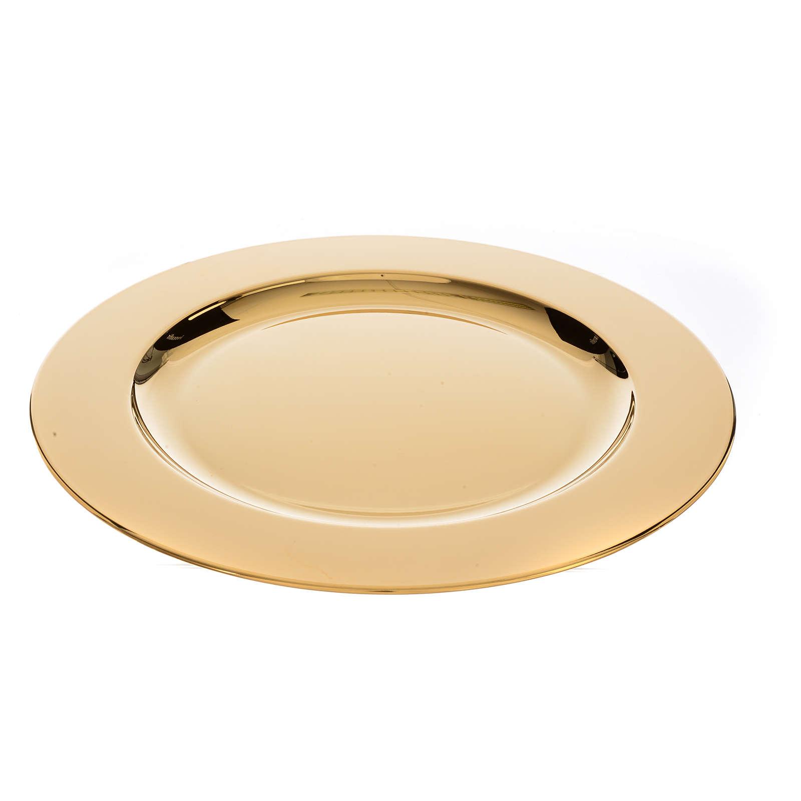 Patena ottone dorato diam 23,5 cm 4