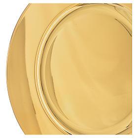 Patena ottone dorato diam 23,5 cm s2