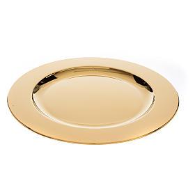 Patena ottone dorato diam 23,5 cm s3