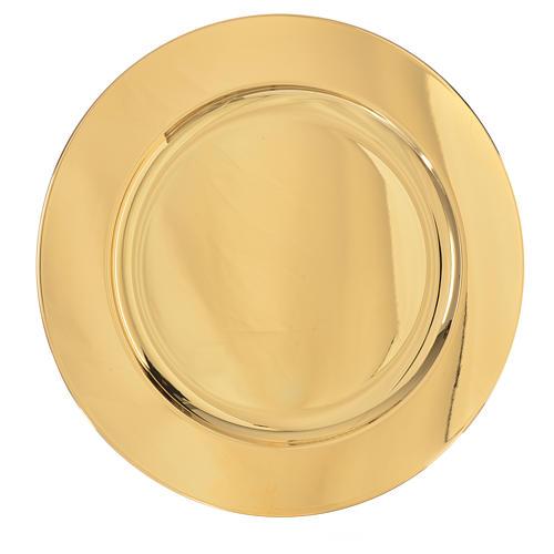 Patena ottone dorato diam 23,5 cm 1