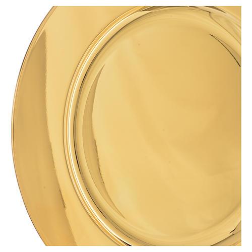 Patena ottone dorato diam 23,5 cm 2