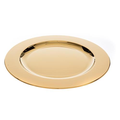 Patena ottone dorato diam 23,5 cm 3