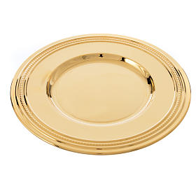 Patena de latón dorado, diámetro 19cm s3