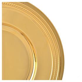 Patena de latón dorado, diámetro 19cm s4