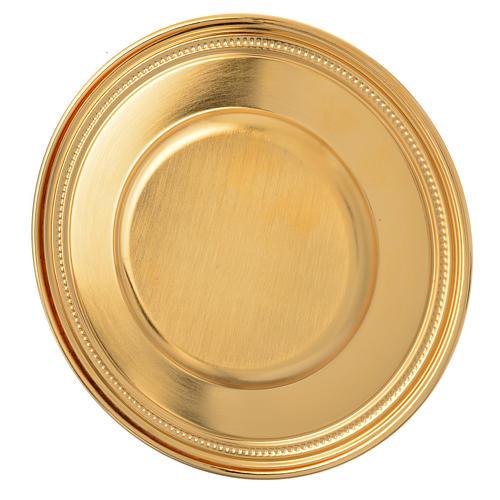 Patena de latón dorado, diámetro 19cm 2