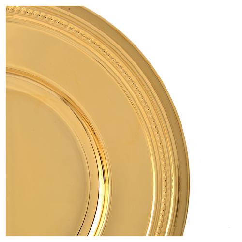 Patena de latón dorado, diámetro 19cm 4
