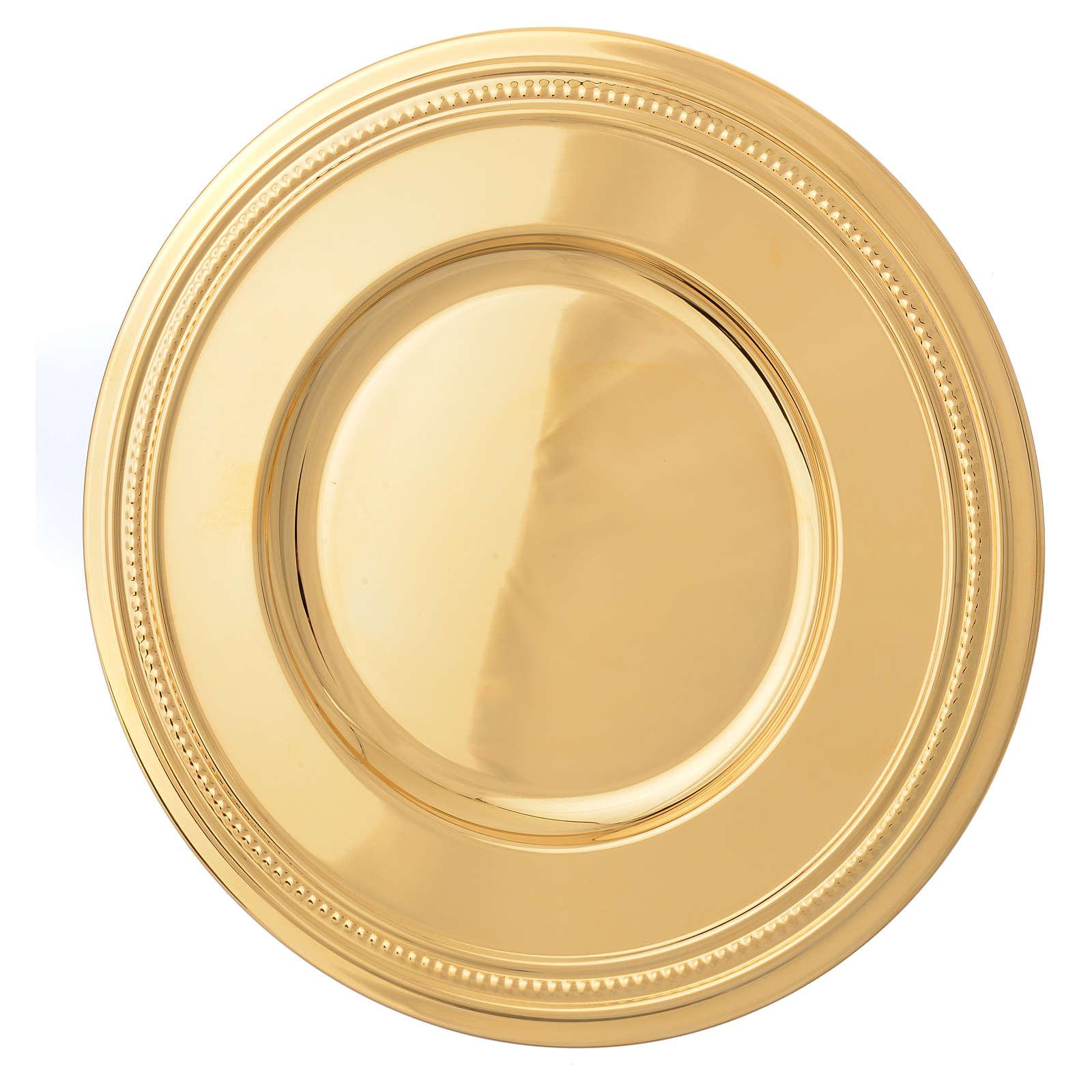 Bandeja latão dourado 19 cm 4
