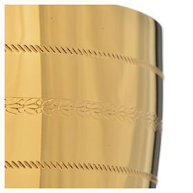Calice e pisside  ottone con applicazione cristalli blu s13