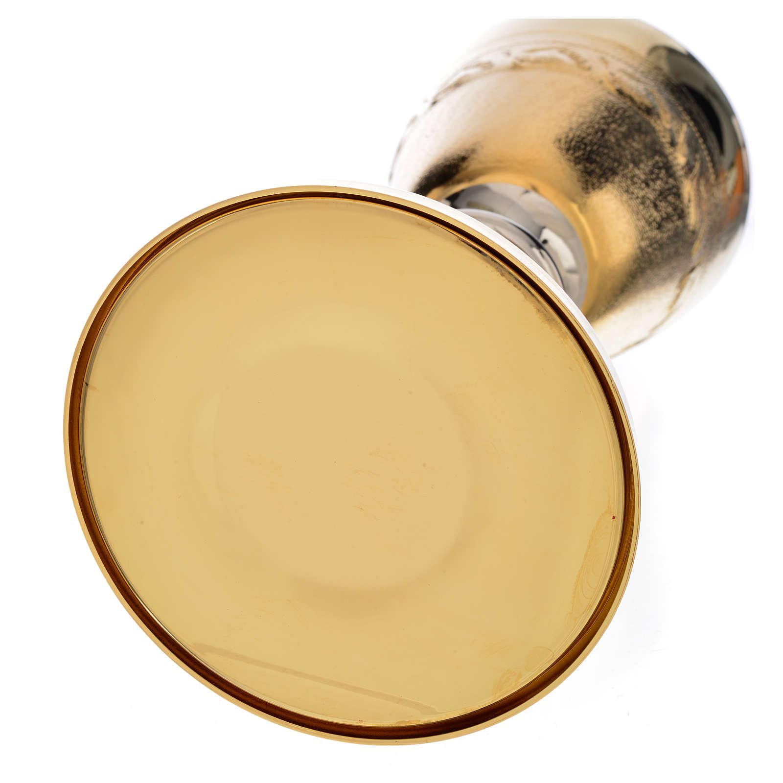 Calice ciboire décor avec épis laiton 4